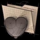 DESSINSONWEB Icones Artwork Croquis Dossier Coeur